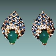 Scarce Boucher Peacock Eye Earrings