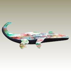 Scarce Lea Stein Alligator Pin Multicolored