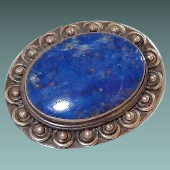 Mid-century Lapis Lazuli Sterling Pin