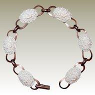 Celluloid Floral Mold Bracelet