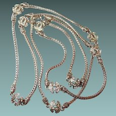 Designer Snake Chain Necklace with Symbols
