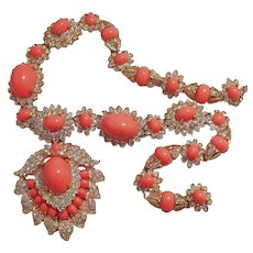 Jacqueline Onassis Coral Necklace by Kenneth Lane - Book Piece