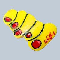Iconic Bill Schiffer Yellow Toe Pin