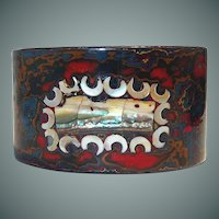 Whaling Resin Swirl with Mother of Pearl Cuff