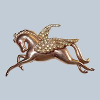 Art Deco Pegasus Winged Horse Mythology Brooch