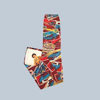 Peek-a-Boo Naughty Classic Cars Silk Neck Tie