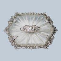 Art Deco 20s Camphor Glass Pin