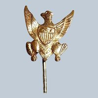 Three Star Eagle Gold-filled Tie Stick Pin