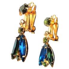 Juliana (DE) Green and Blue Drop Earrings