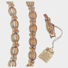 Textured Monet Link Necklace Set with Extender Original Tags
