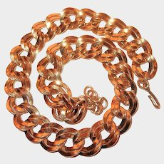 Chunky Double Link Monet Chain Necklace