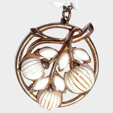 Trifari White Berry Cabochon and Glass Bracelet
