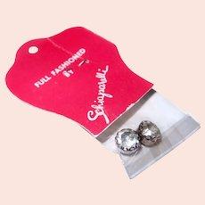 SCHIAPARELLI Rhinestone Fashion Accent Buttons