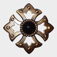 GINNIE JOHANSEN Antique Finish Maltese Cross Pin