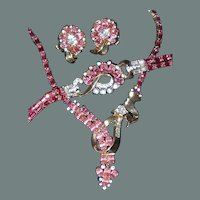 50% off Shop at Home Sale Pink Crystal Mazer Suite Includes Necklace, Bracelet, Earrings