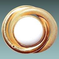 Miriam Haskell White Button Contemporary Pin