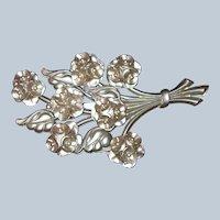Early Plastic Huge Tiered Flower Bouquet Brooch Last Chance SALE