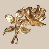 Rare Eisenberg Original Huge Rose Brooch