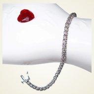 White Gold Diamond Tennis Bracelet 10K Gold