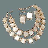 Coro Thermoset Parure Set Necklace Bracelet Earrings 50% off Shop from Home Sale