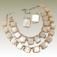 Coro Thermoset Parure Set Necklace Bracelet Earrings FINAL REDUCTION SALE