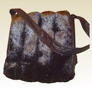 Faux Fur Shoulder Handbag with Original Tag