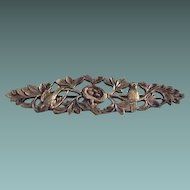 Sterling Art Deco Bird Nest Collar Pin
