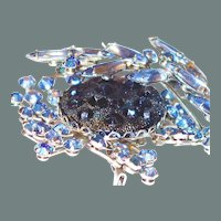 Scarce Dimensional Blue Moon Rock Judy Lee Brooch Earring Set 50% off Shop at Home Sale