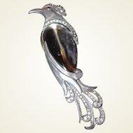 Rare Lucite Jelly Belly Bird Brooch by H. Pomerantz
