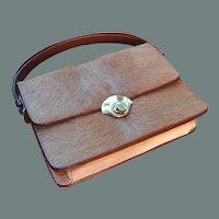 50% off Shop at Home Sale Unusual Leather Deer Skin Handbag