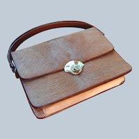 Unusual Leather Deer Skin Handbag