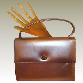 Silver Gray Patent Leather Handbag
