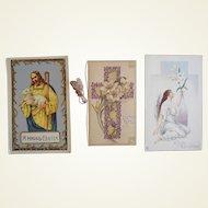Tuck Religious Easter Postcard Lot Christ Angel Cross Foldout
