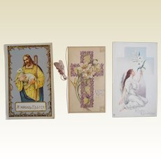 Tuck Religious Easter Postcard Lot Christ Angel Cross Foldout
