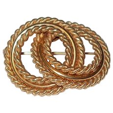 Alice Caviness Gold Eternity Ring Pin