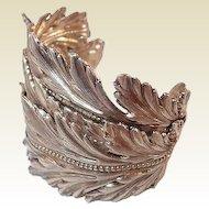 Paris Dominique Aurientis Greek Style Leaf Cuff Haute Couture Bracelet