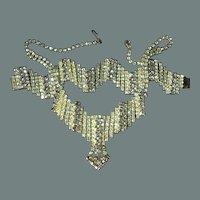 50% off Shop at Home Sale Unique Zigzag Yellow Smoke Rhinestone Necklace Bracelet
