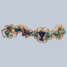 Enameled Egyptian Bracelet from 1960s Cleopatra Movie