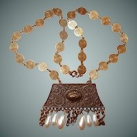 Castlecliff Egyptian Revival Dangle Necklace