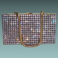 Paved Rhinestone Purse Compact Cigarette Vanity Case
