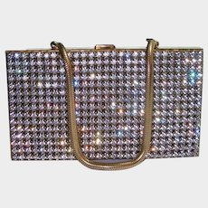 Carryall Paved Rhinestone Purse Compact Cigarette Vanity Case