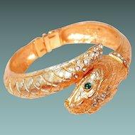 Snake Bangle Swiss Wrist Watch with Rhinestones