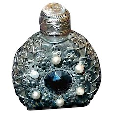 Miniature Jeweled Perfume Bottle with Stopper