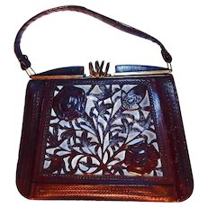 Unusual Cut Out Tool Handbag Leather Lining