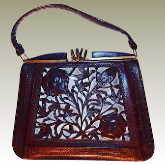 Unusual Cut Out Tool Handbag Leather Lining