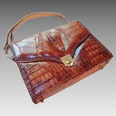 Genuine Alligator Handbag 1950s