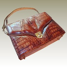 Genuine Alligator Handbag 1950s