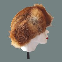 50% off Shop at Home Sale Red Fox Fur Hat Hand-Made in Poland