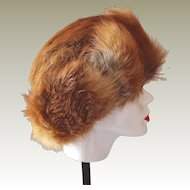 Red Fox Fur Hat Hand-Made in Poland Final Reduction SALE