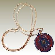 Translucent Embellished Bakelite Pendant Long Chain FINAL REDUCTION SALE